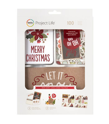 Project Life Seasonal 100 pk Value Kit-Merry Merry
