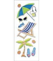 A Touch Of Jolee's A Day At The Beach Dimensional Stickers-Sunbathing, , hi-res