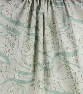 "Home Essentials Lightweight Decor Fabric 45 ""-Calligraphy Spring"