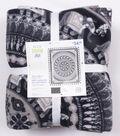 No Sew Fleece Throw Kit 72\u0027\u0027x60\u0027\u0027-Tribal Elephant Medallion
