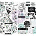 Flirty Fleur Sticker Sheet 4\u0022X6.5\u0022 4/Pkg-W/Foil Accents