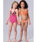Kwik Sew Pattern K4168 Girls\u0027 Halter Bikini & Swimsuit-Size XXS-XS-S-M-L