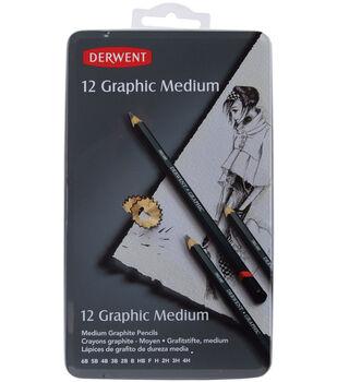 Derwent Graphic Pencil Tin-12PK/Medium