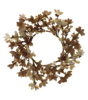 Blooming Autumn Mini Wreath-Toast