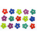 Jesse James Dress It Up Floral Button Embellishments-Goddess Garden
