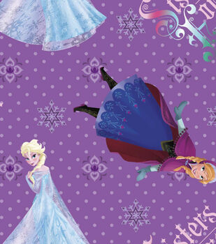 Disney Frozen Cotton Fabric -Sisters