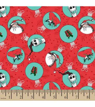 Nightmare Before Christmas Cotton Fabric-Christmas Badges