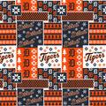 Detroit Tigers Cotton Fabric-Winter