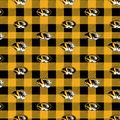 University of Missouri Tigers Fleece Fabric-Buffalo Plaid