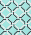 Blizzard Fleece Fabric 59\u0022-Ice Green Black Chain Link