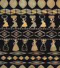Ethnic Print Cotton Fabric 44\u0022-Women Carrying Baskets Navy