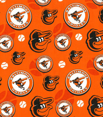 """Baltimore Orioles Cotton Fabric 44""""-Cooperstown"""