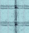 Snuggle Flannel Fabric 42\u0027\u0027-Jade Blue Plaid