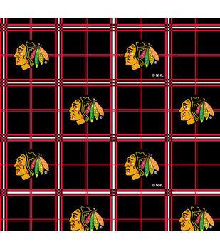 Chicago Blackhawks Flannel Fabric -Plaid