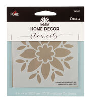 FolkArt Home Decor 4''x4'' Laser Cut Stencil-Dahlia, , hi-res