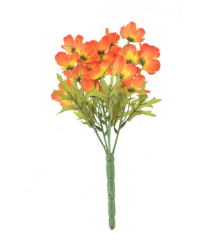 Fresh Picked Spring 13'' Cosmos Bush-Orange