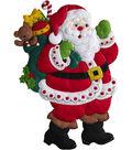 Bucilla Christmas Felt Wall Hanging Applique Kit-Here Comes Santa