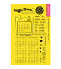 Waffle Flower Crafts Clear Stamps-Calendar