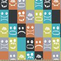 Colorful Monsters Print Fabric