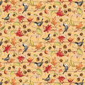 Harvest Cotton Fabric-Fall Acorns & Leaves