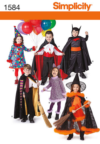 Simplicity Pattern 1584A Child's Costumes-Size 3-4-5-6-7