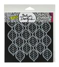 The Crafter\u0027s Workshop Balzer Designs 6\u0027\u0027x6\u0027\u0027 Template-Art Deco Leaves