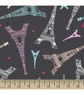 Snuggle Flannel Fabric -Paris
