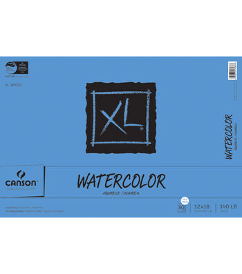 """Canson XL Watercolor Paper Pad 12""""X18""""-30 Sheets"""