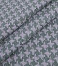 Lightweight Decor Fabric 59\u0022-Crosshatch Dark Green