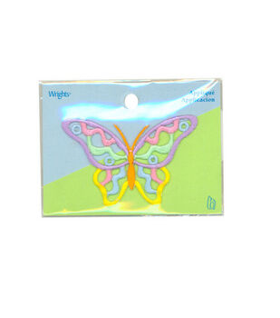 Wrights Iron-On Applique-Butterfly