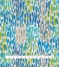Kelly Ripa Home Outdoor Fabric-Make It Rain Cerulean