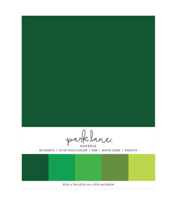 Park Lane 50 pk 8.5''x11'' Value Papers-Greens