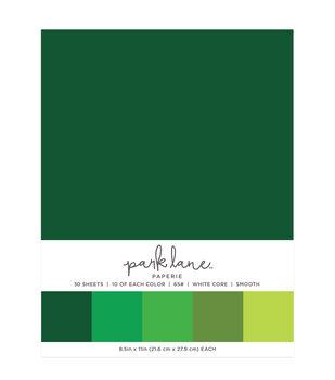Park Lane 50 pk 8.5''x11'' Value Papers-Greens