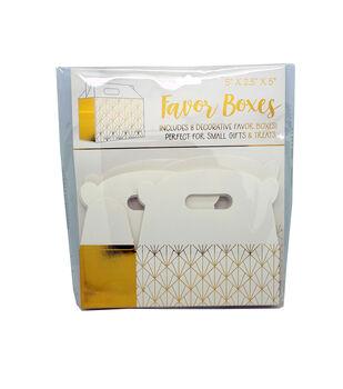 Gold Diamond Favor Boxes-Set of 8