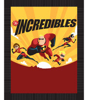 Disney Incredibles 2 No-Sew Fleece Throw 48''-Flying Family, , hi-res
