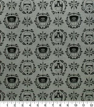 Disney Star Wars Knit Fabric-Empire Helmets & Floral