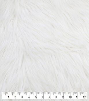Luxury Faux Husky Fur Fabric -White
