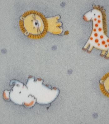 "Nursery Fleece Fabric 59""-Safari Tossed Animals"