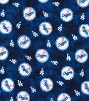 LA Dodgers Flannel Fabric-Tie Dye, , hi-res