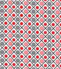 Snuggle Flannel Fabric -Trellis Geo Red