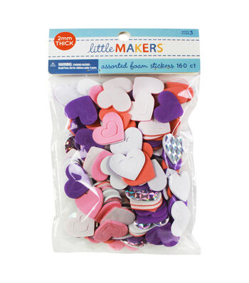 Little Makers Holo Adhesive Foam Stickers-Hearts