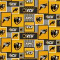 VCU Rams Fleece Fabric-College Patch