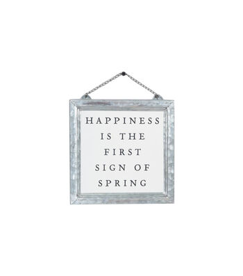 Simply Spring Framed Wall Decor-Happiness is the First Sign of Spring