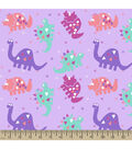 Snuggle Flannel Fabric -Dinosaurs