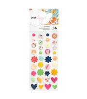 American Crafts Dear Lizzy Glitter Enamel Dot Stickers, , hi-res