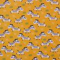 Super Snuggle Flannel Fabric-Happy Zebra on Yellow