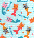 Snuggle Flannel Fabric 42\u0022-Purrmaid
