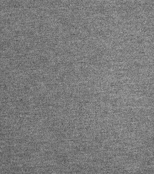 Refined Ponte Knit Fabric-Heather Gray