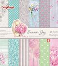 ScrapBerry\u0027s Summer Joy Paper Pack 6\u0022X6\u0022-12 Single-Sided