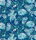 Premium Quilt Cotton Fabric -Packed Floral Teal